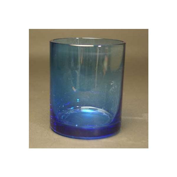 新元号記念 ロックグラス 青色 高級被せガラス 送料無料|blastglass|03