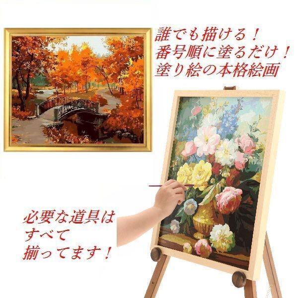 ギフト 絵画 塗り絵 数字絵画 プレゼント 贈り物 ぬりえ インテリア