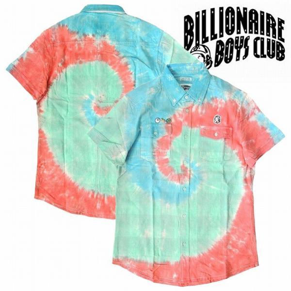 Billionaire Boys Club ビリオネアボーイズクラブ 半袖シャツ タイダイシャツ PLAIDE DYE SS WOVEN bless-web