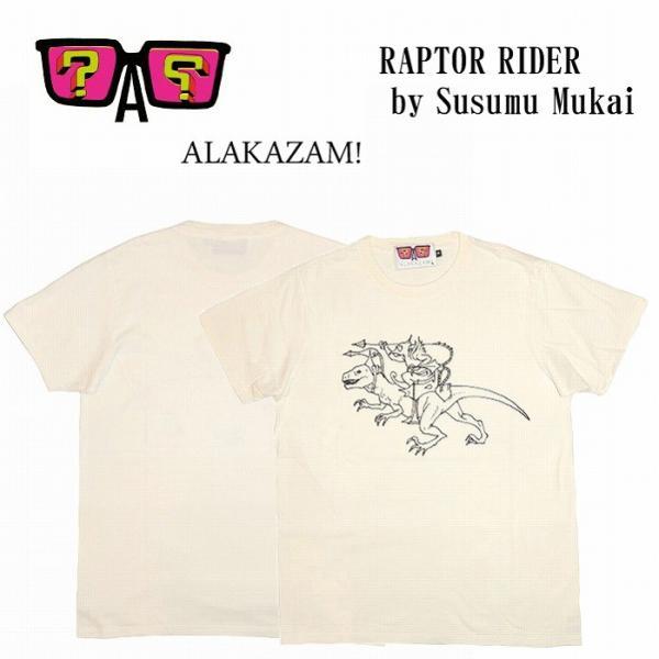 20%OFF ALAKAZAM アラカザム Tシャツ 半袖 グラフィックRAPTOR RIDER by Susumu Mukai/OFF WHITE 再入荷|bless-web
