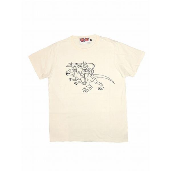 20%OFF ALAKAZAM アラカザム Tシャツ 半袖 グラフィックRAPTOR RIDER by Susumu Mukai/OFF WHITE 再入荷|bless-web|02