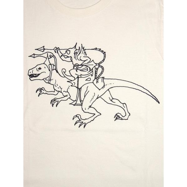 20%OFF ALAKAZAM アラカザム Tシャツ 半袖 グラフィックRAPTOR RIDER by Susumu Mukai/OFF WHITE 再入荷|bless-web|03