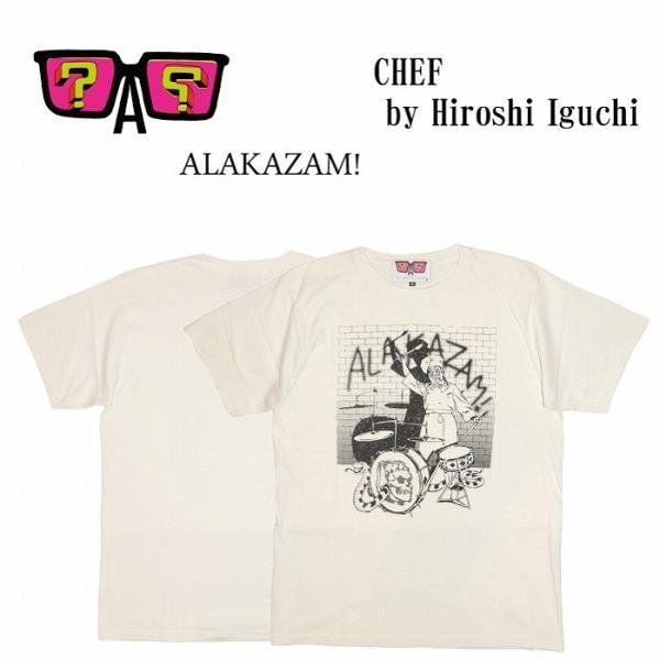 20%OFF ALAKAZAM アラカザム 半袖 Tシャツ プリントChef by Hiroshi Iguchi/OFF WHITE|bless-web