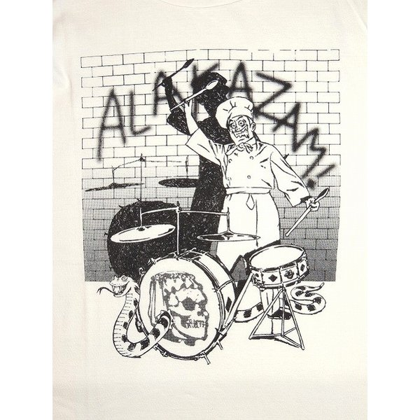 20%OFF ALAKAZAM アラカザム 半袖 Tシャツ プリントChef by Hiroshi Iguchi/OFF WHITE|bless-web|03