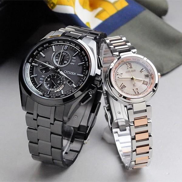 シチシチズン腕時計ペアウォッチアテッサ&クロスシー ペアウォッチ ソーラー電波  AT8044-56E-EC1114-51W 208,0