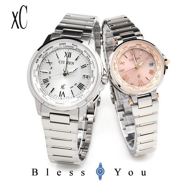 ペアウォッチ シチズン  クロスシー 電波ソーラー腕時計 CB1020-54A_EC1014-65W 113000|blessyou