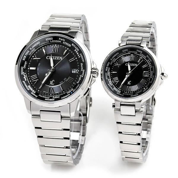 シチズン クロスシー  ペアウオッチ bk&bk 電波ソーラー腕時計  XC CB1020-54E_EC1010-57F 110,0|blessyou|02