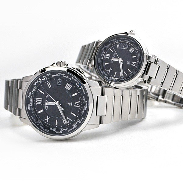 シチズン クロスシー  ペアウオッチ bk&bk 電波ソーラー腕時計  XC CB1020-54E_EC1010-57F 110,0|blessyou|14