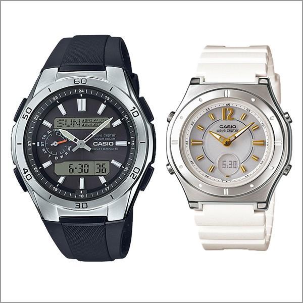 ペアウォッチ カップル 電波ソーラー腕時計 樹脂バンド WVA-M650-1AJF-LWA-M142-7AJF 35000|blessyou|02