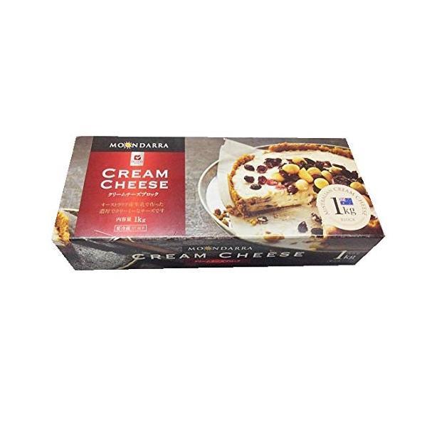 チーズ ナチュラルチーズ ムーンダラー クリームチーズブロック1kg×10個セット   冷蔵