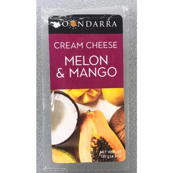 チーズ ナチュラルチーズ ムーンダラ メロン&マンゴー クリームチーズ 120g x8個セット 冷蔵