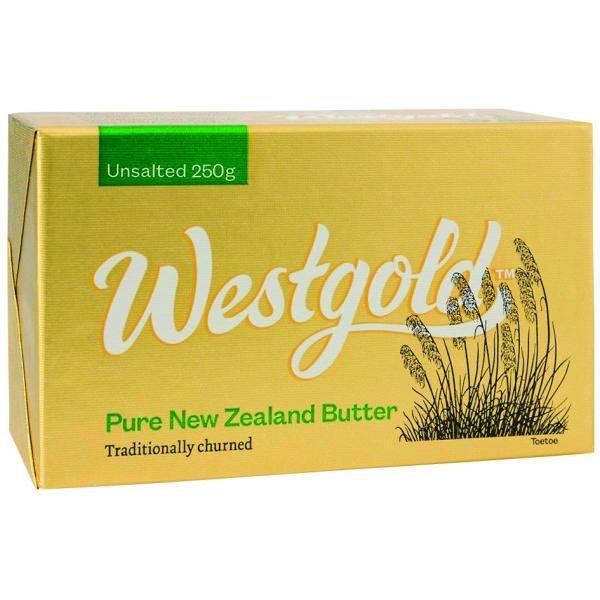 NZ産 グラスフェッドバター ウエストランド無塩バター 250g×8個セット ムラカワ 関東送料765円 パン作り お菓子作り 製パン 製菓