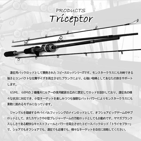 ヤマガブランクス ロッド 釣り竿 Triceptor 65ML Bait (Overhead) model トライセプター ベイトモデル フィッシング YAMAGA Blanks YBS4560395517072