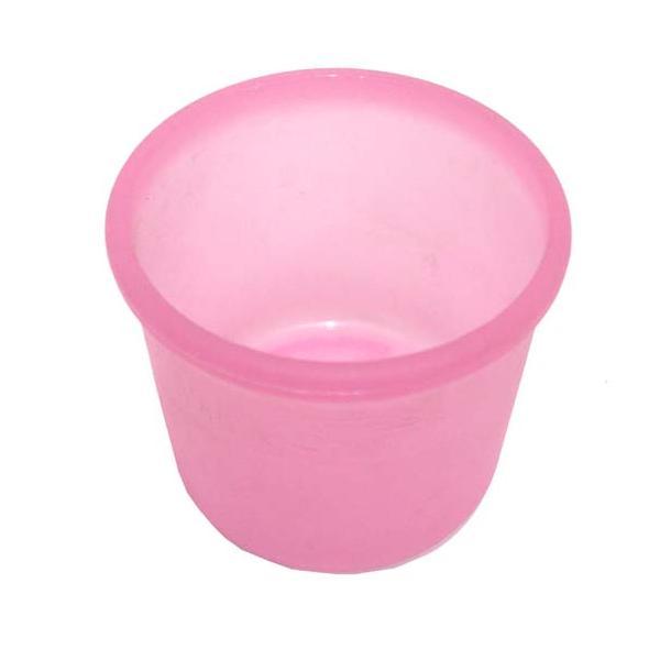 【ハイドロカルチャー】ミニ観葉植物用 プラ鉢(ピンク)