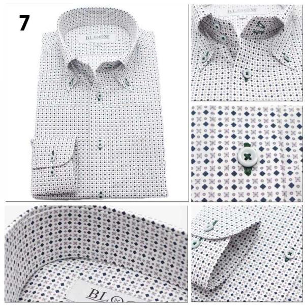 【11周年記念SALE】ワイシャツ メンズ 長袖  Yシャツ ビジネス シャツ スリム ボタンダウン S M L LL 3L 10柄 形態安定|bloomstore|08