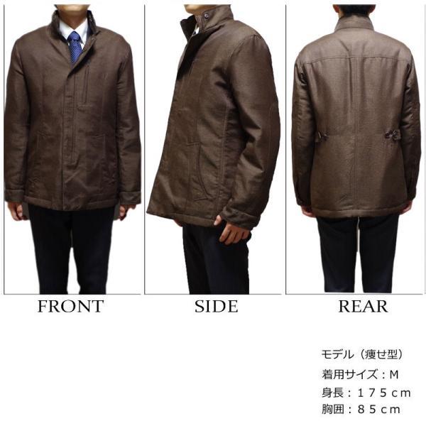 【送料無料】スタンドカラー ショートコート メンズ ビジネスコート M/L/LLサイズ|bloomstore|03