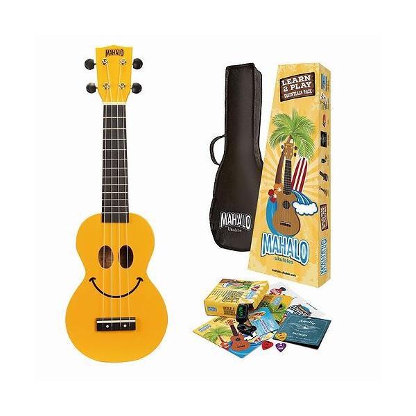 """MAHALO・マハロ / Learn 2 Play Pack """"U-SMILE YWK"""" オールインワン・スタートアップ・ソプラノウクレレセット 初心者の方にどうぞ"""