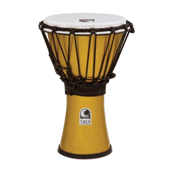 人気パーカッション!TOCA トカ / Freestyle Colorsound Djembes Metallic Yellow (MY) フリースタイル カラーサウンド ジャンベ