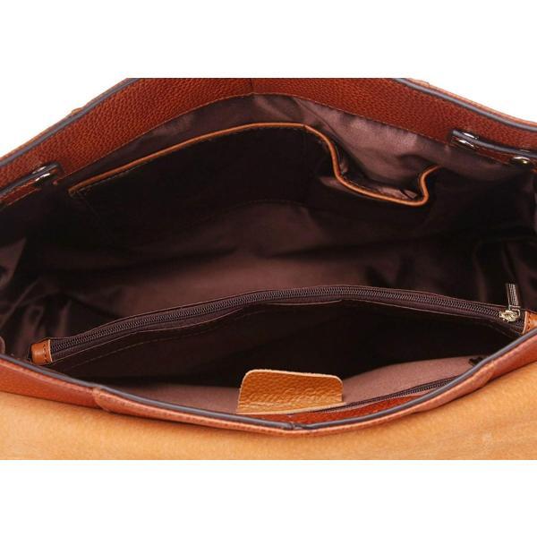 Loyofun新しい本革リアルレザートートショルダーバッグ財布ホーボーハンドバッグブラウン