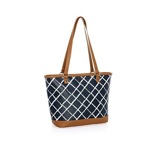 格子縞の小石 - モノグラムなし - 3195の都市シックなトートバッグ