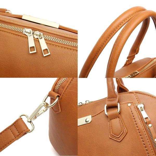 Aitbags財布と女性のためのハンドバッグショルダーストラップ付きトートビッグクロスボディバッグブラウン