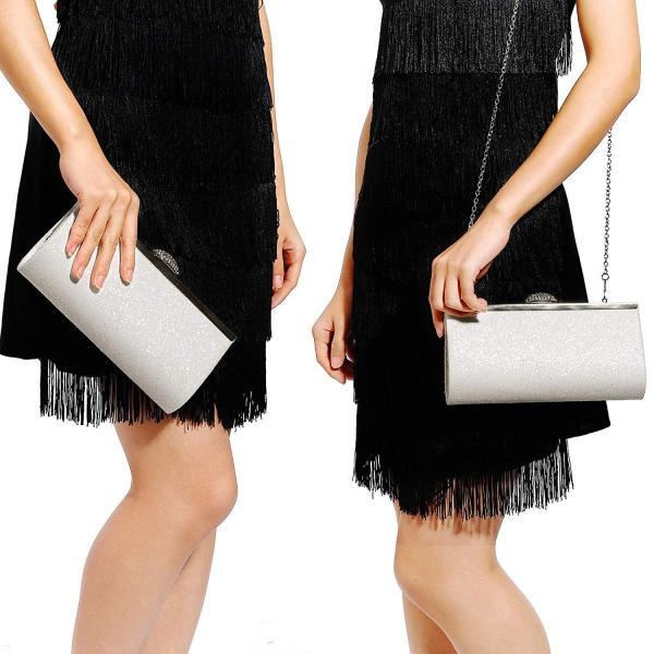 Anladiaオールラウンドキラキラデザイン女性クラッチイブニングハンドバッグクラスプW /光沢のあるラインストーン