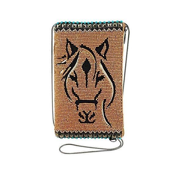 メアリーフランシス蹄それそれ馬のクロスボディ電話バッグ、多色ビーズ