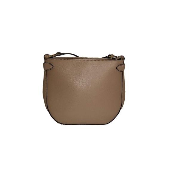 Lauren Ralph Lauren Allenville Taupe Leather Cross Body Bag