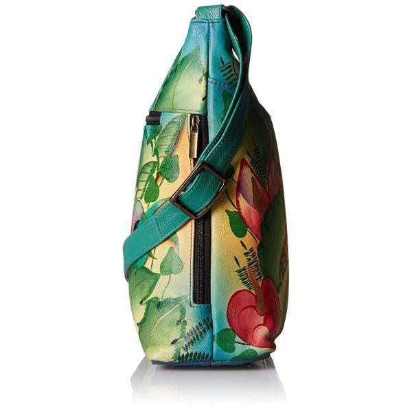Anna by Anuschka Women's Genuine Leather Large Hobo Handbag   Hand Pai