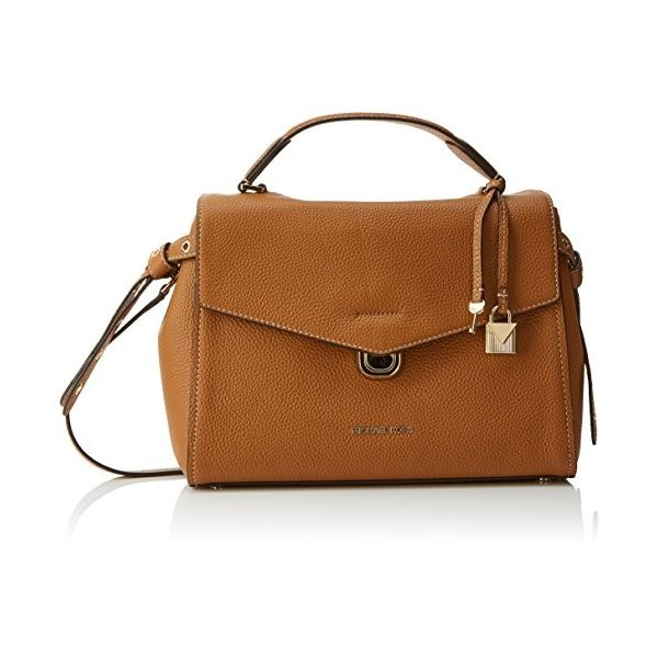 Michael Kors Womens Lenox Satchel Brown (Acorn)