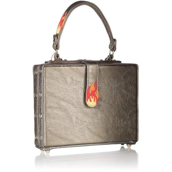 MARY FRANCES Rock Band Embellished Guitars Top Handle Bag