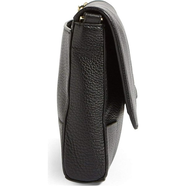 TORY BURCH Britten Fold over Crossbody Bag Leather Women's Handbag (Bl