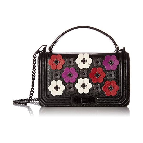 Rebecca Minkoff Floral Applique Love Crossbody, Black/Multi