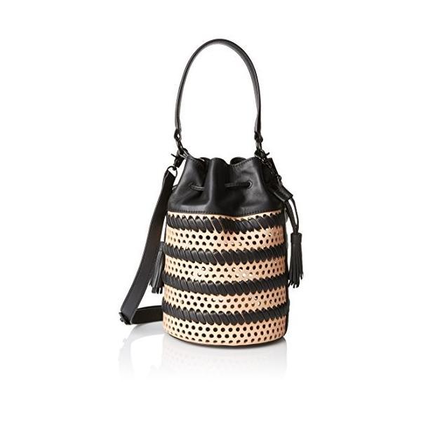 LOEFFLER RANDALL Industry Cross Body Bag, Natural/Black, One Size