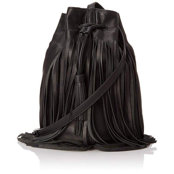 LOEFFLER RANDALL Industry Bucket Cross Body Bag, Black/Black, One Size