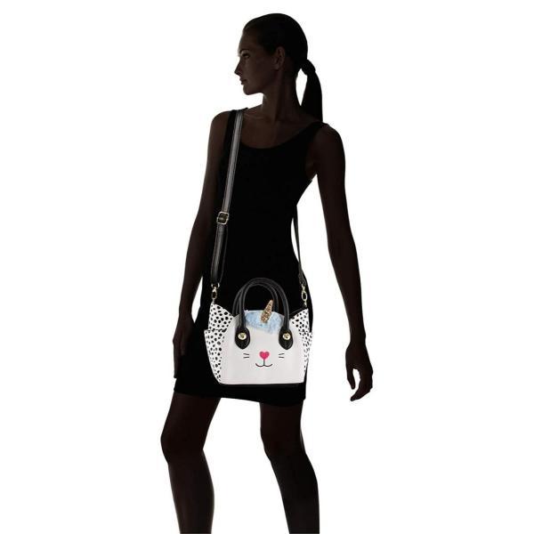 Luv Betsey Johnson Katt Uni Cat Face Small Satchel Crossbody Handbag -