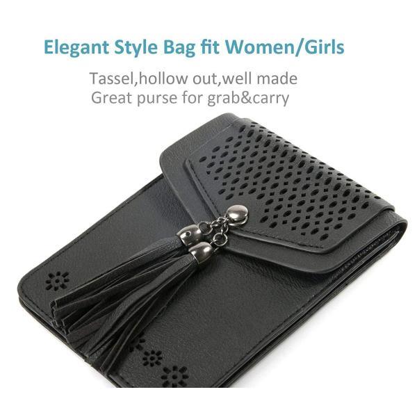 Crossbody purse Small Cell Phone Purse, Tassel Hollow crossbody bag Wa