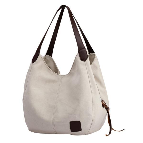 Epsion Women Canvas Purse Hobo Satchel Stylish Handbag Top Handle Tote