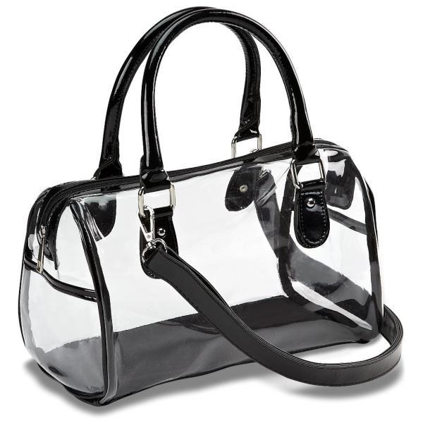Designer Inspired Clear Satchel Handbag