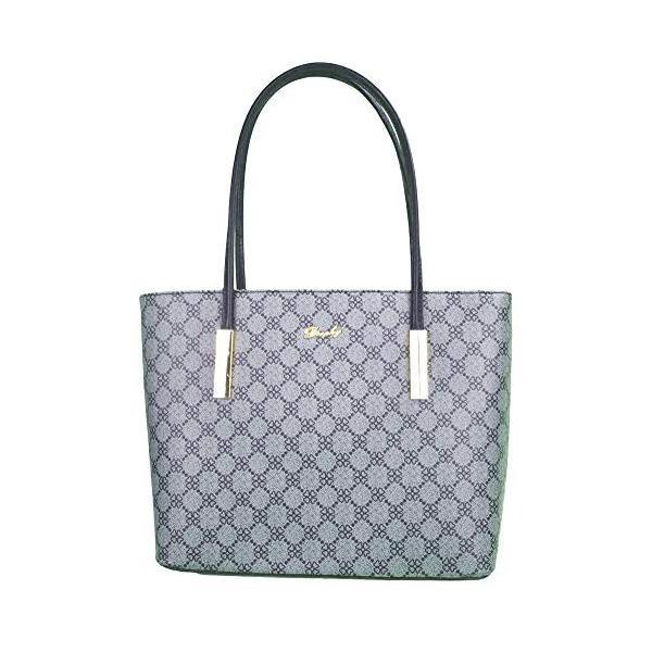 Lady Women Handbags Wallets Sets Signature Jacquard Zip File Satchel P