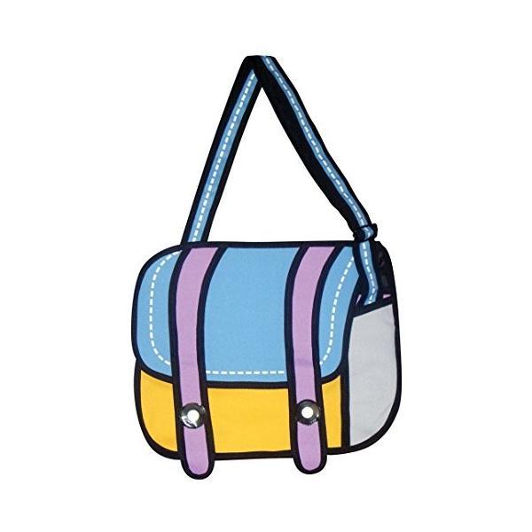 Charm Co Toonpacks Satchel Pack-Blue/mustard yellow