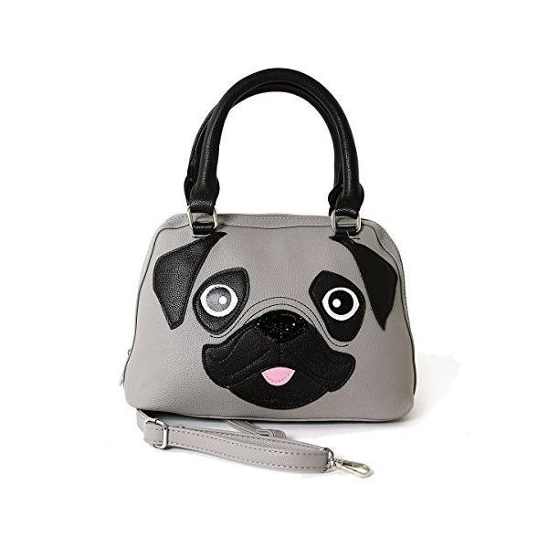 Cute Little Pug Puppy Satchel Handbag