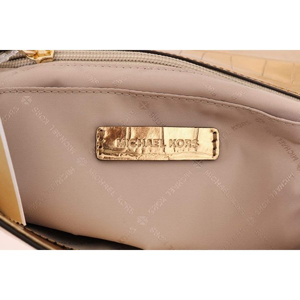 Michael Kors Karla Top Handle Embossed Leather Satchel Crossbody (Medi