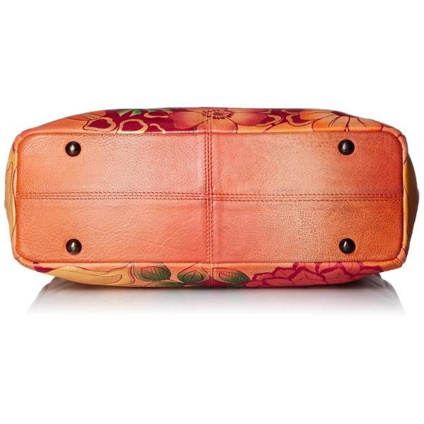 Anna by Anuschka Women's Genuine Leather Triple Compartment Medium Sat
