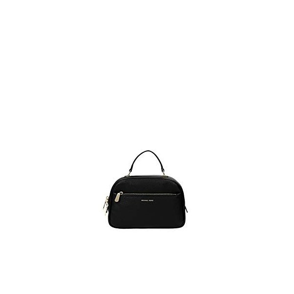 MICHAEL Michael Kors Luka Small Satchel leather Black/Gold