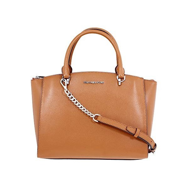 Michael Kors Ellis Ladies Large Leather Satchel Handbag 35H7SE0S3L230