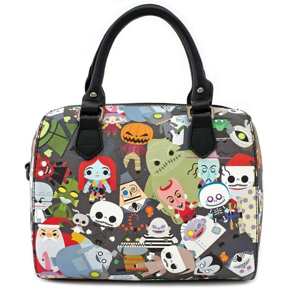 Loungefly x Nightmare Before Christmas Chibi Character Print Duffle Pu