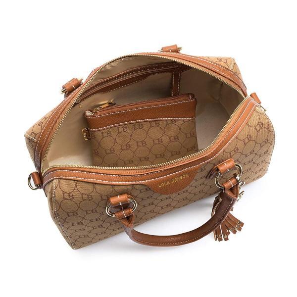 Lola Benson Demi Signature Logo Monogram Barrel Bag Bowling Bag Should