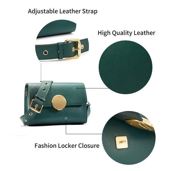 EMINI HOUSE Vintage Influencer Flap Shoulder Bag with Round Hardware C