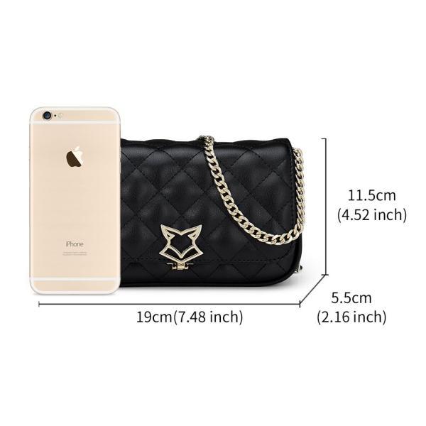 FOXER Women Crossbody Bag Leather Shoulder Messenger Bag Quilted Bag C